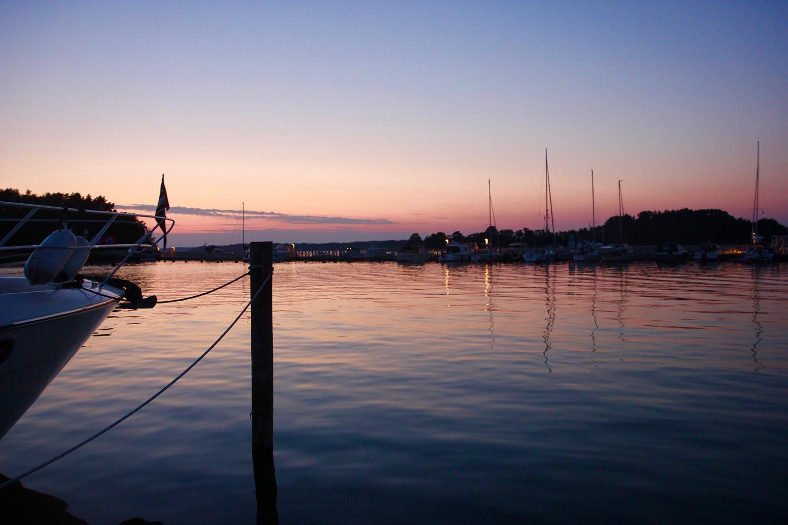 private marina sunset